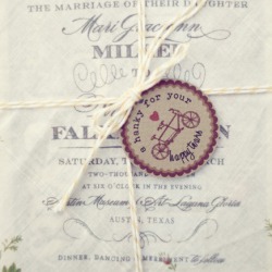 'A hanky for your happy tears' ... such a darling saying on this handkerchief invitation!