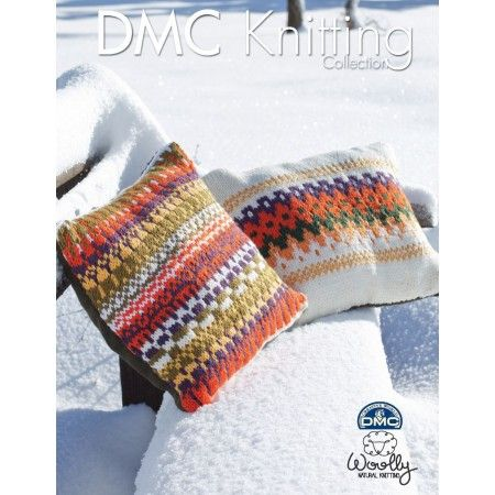"Craft some cushion covers to cuddle up with. This DMC pattern leaflet, with its easy to follow steps, will have you creating two divinely soft covers in complementary Fair Isle designs. Finished sizes measure 16"" x 16"" and 20"" x 10"". Yarn not included.   We recommend using Woolly yarn with this pattern. Woolly is recognized as the best wool in the world. It's natural, renewable, and features long, thin fibers giving it superior softness and comfort. It is also considered an ""active fiber,""…"