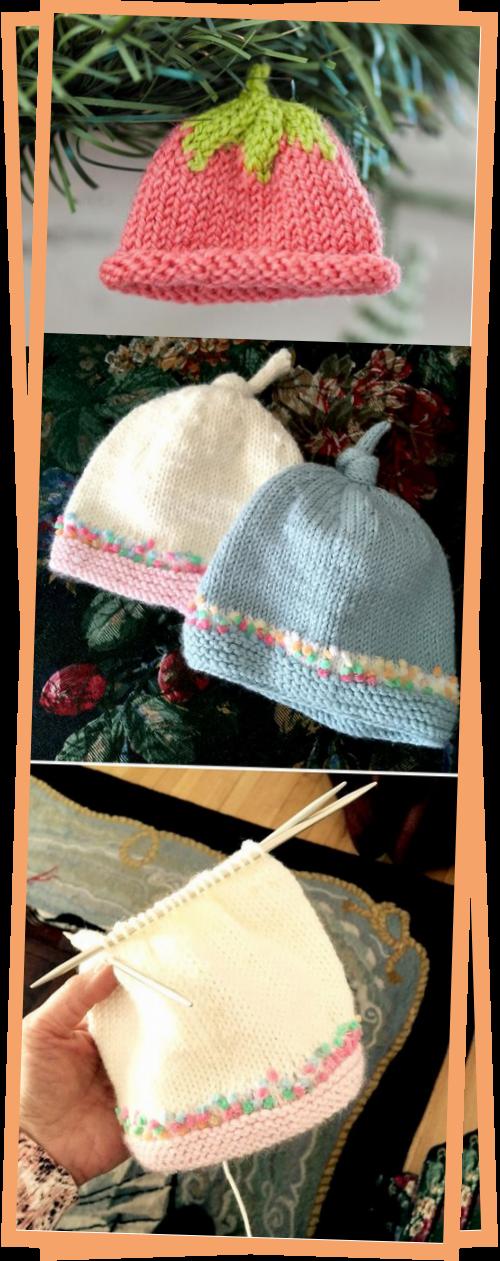 Photo of Garland Of Tiny Hats Knitting Kit  Bluprint