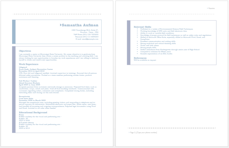 certified lifeguard resume resume pinterest sample resume and