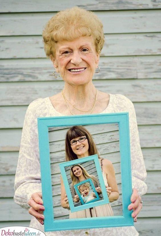 Generationenbild - Geschenk für Oma DIY #bestgiftsforgrandparents