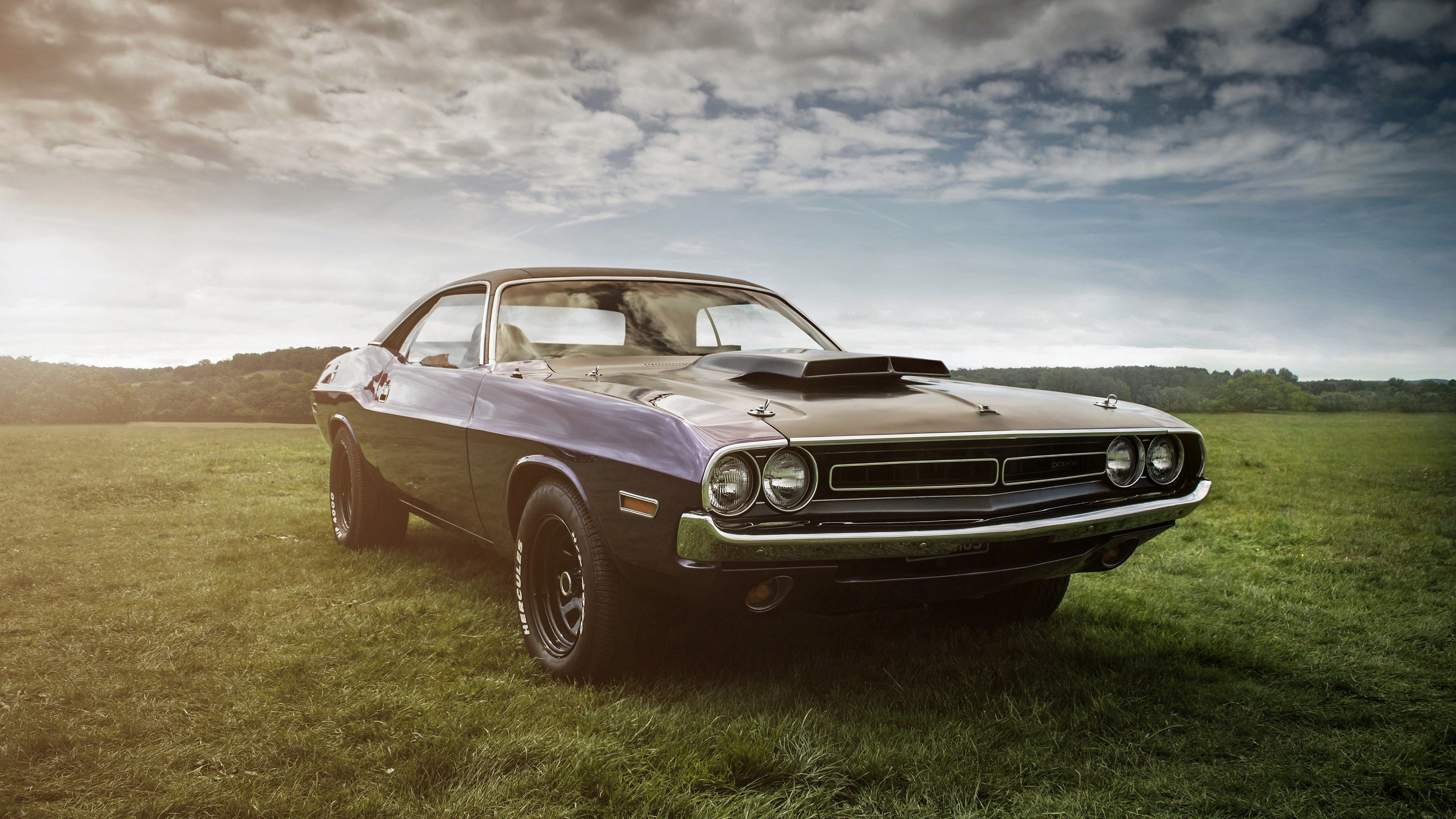 4k Pc Wallpaper Hd 3840x2160 Dodge Challenger Classic Cars Usa Car Wallpapers