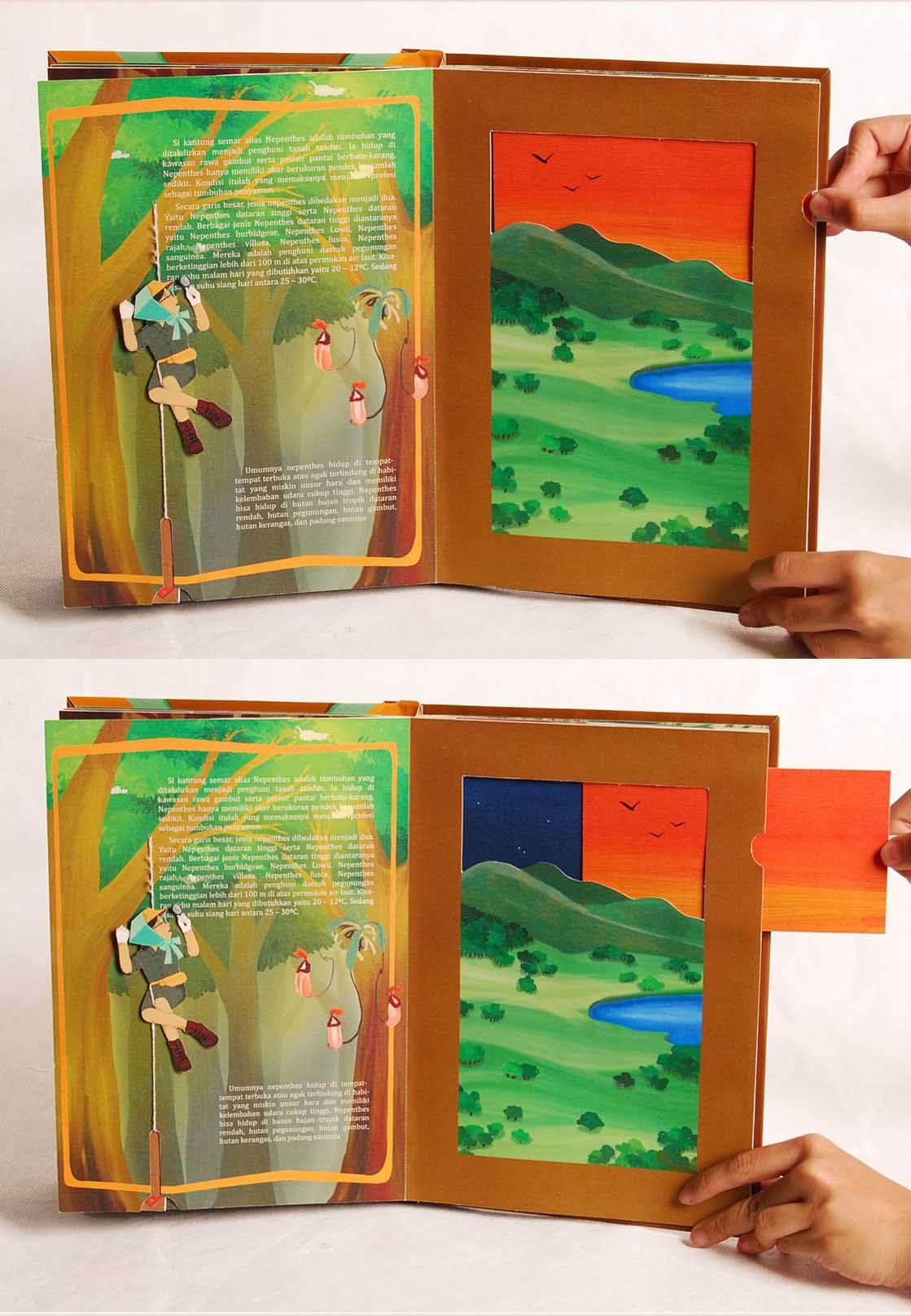 Interactive Book Of Indonesian Rare Plants On Behance Book Design Book Editorial Design Diy Interactive Books