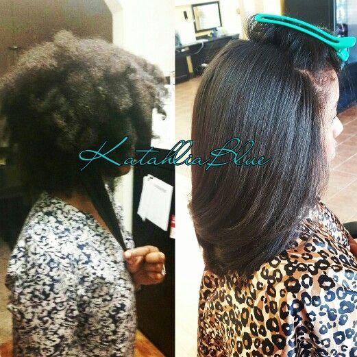 Natural Hair Silk Blowout Natural Hair Blowout Natural Straight Hair Straightening Natural Hair