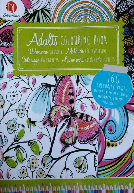 Adults Colouring Book By Deco Time