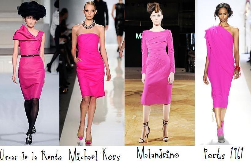 Pink dresses.