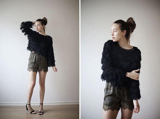 Sara Lehtomaa - Fiorella Fringe Top, H&M Lace Shorts, Lws Shoes - Fringe