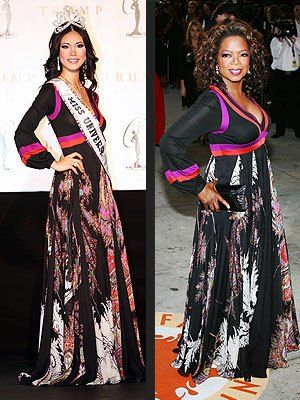 Riyo Mori and Oprah Winfrey wearing the same dress? | Riyo mori ...
