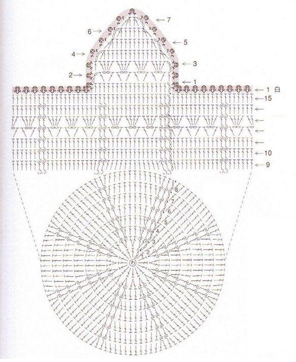 Детская шапочка с ушками крючком  схема Детские Носки b99b0beb9df3b