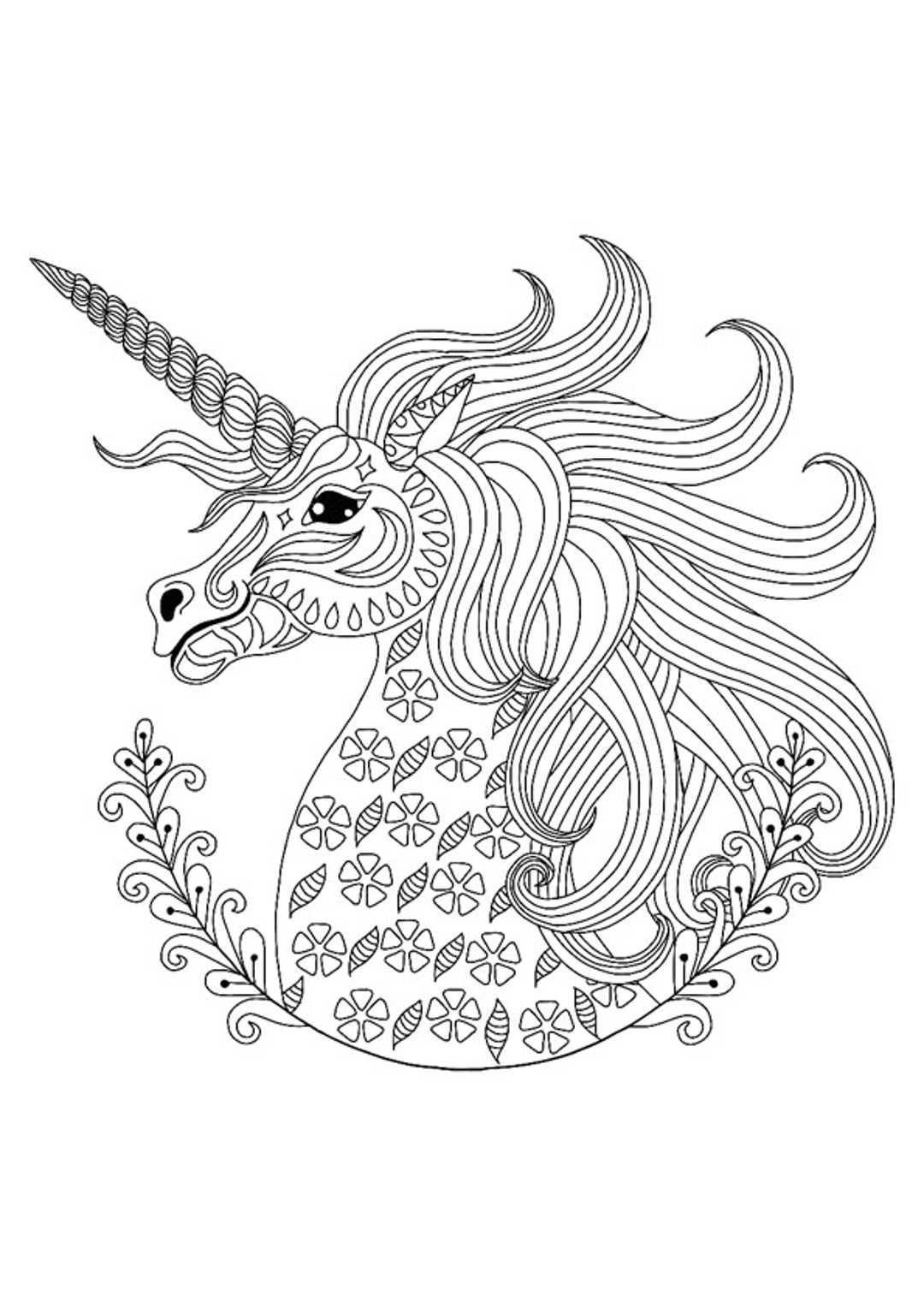 Unicorn Mandala Coloring Pages in 2020 | Mandala coloring ...