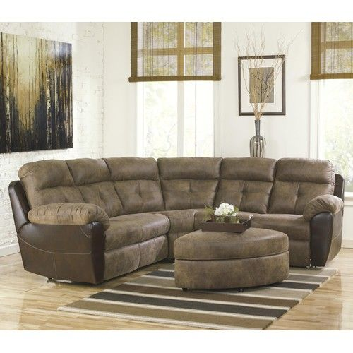 Ashley Hewson Earth Contemporary Two Tone Faux Leather Reclining Sectional Becker Furniture Sectional Sofa Decor Sectional Sofa With Chaise Sofa Bed Design