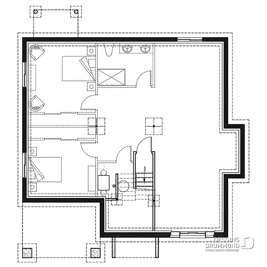 Dessin Plan Maison Plan De Maison Unifamiliale Lakewood No 3155 Jani House Plans