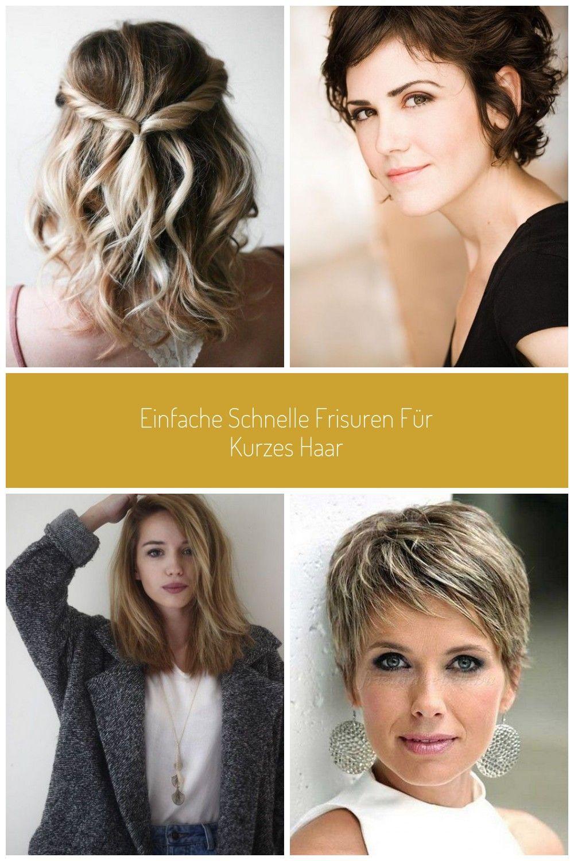 Einfache schnelle Frisuren für kurzes Haar #flechtfrisuren #locken