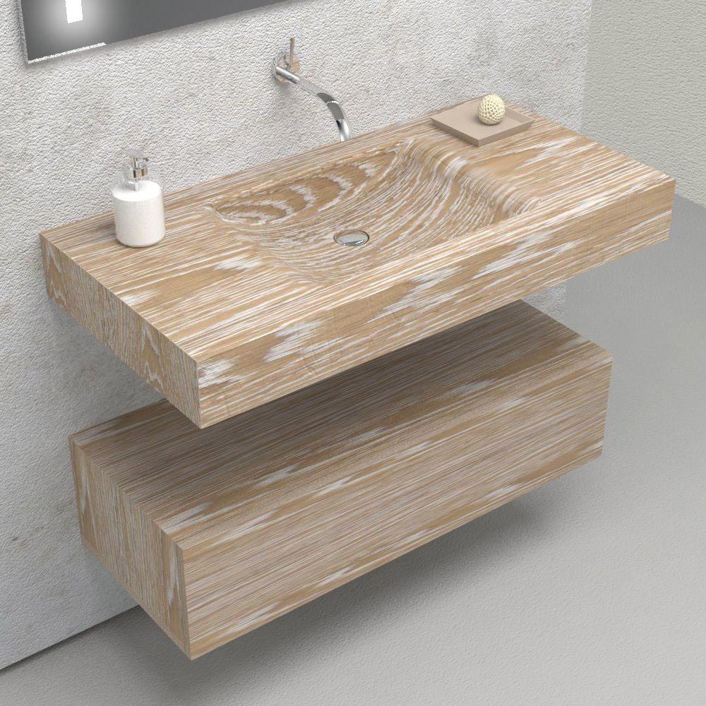 Mobili e arredo bagno in legno massello Fuente Mobile