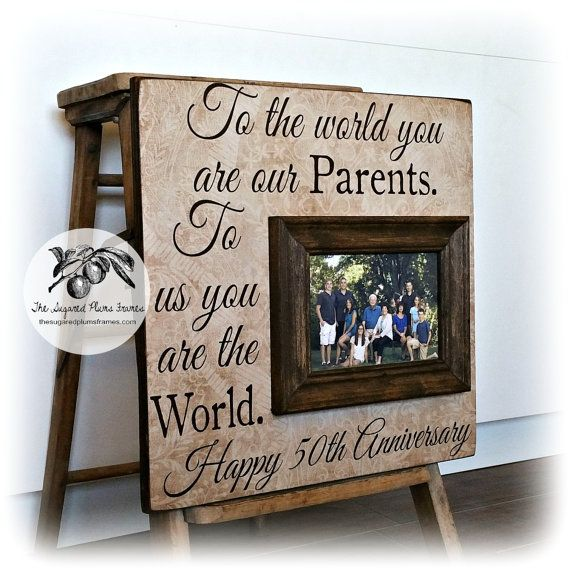 Golden Wedding Gift Ideas For Parents: To The World, 50th Anniversary Gifts, Parents Anniversary