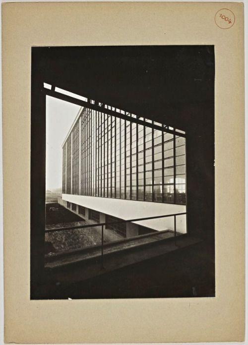 Bauhaus building in Dessau, 1926. Silver gelatin (View