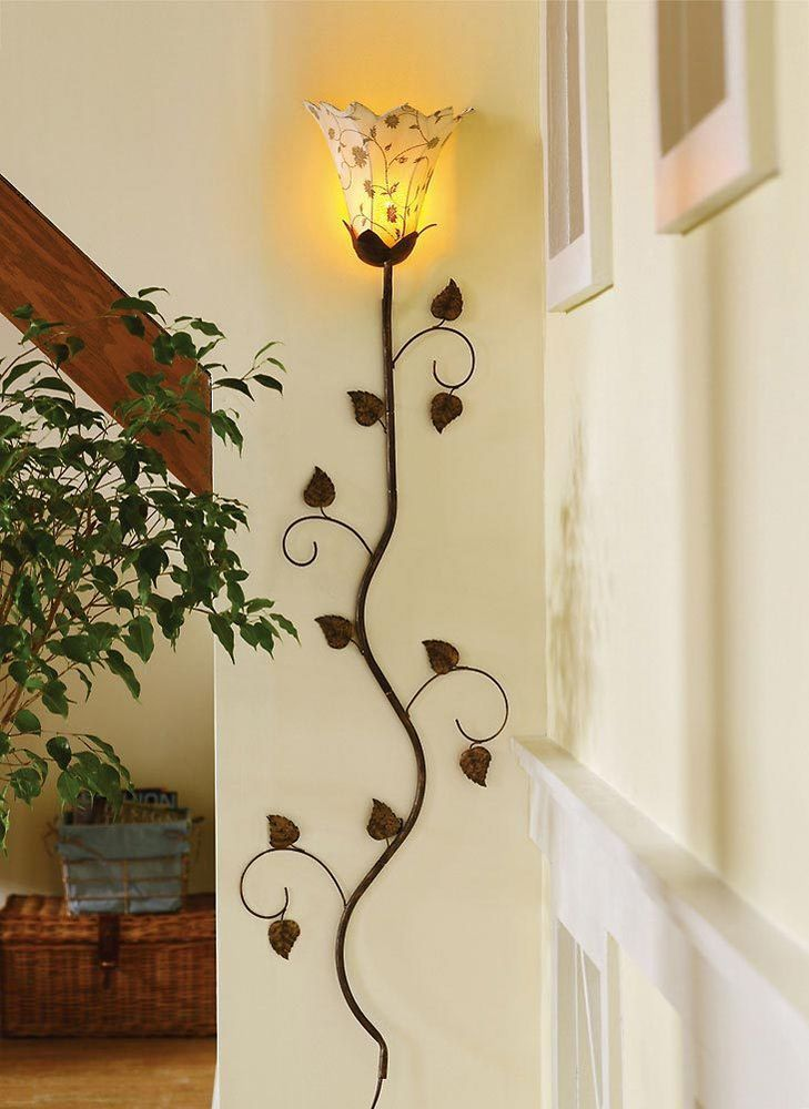 Metal Floral Petals Wall Lamp Decorative Home Decor Accent Lamps ...