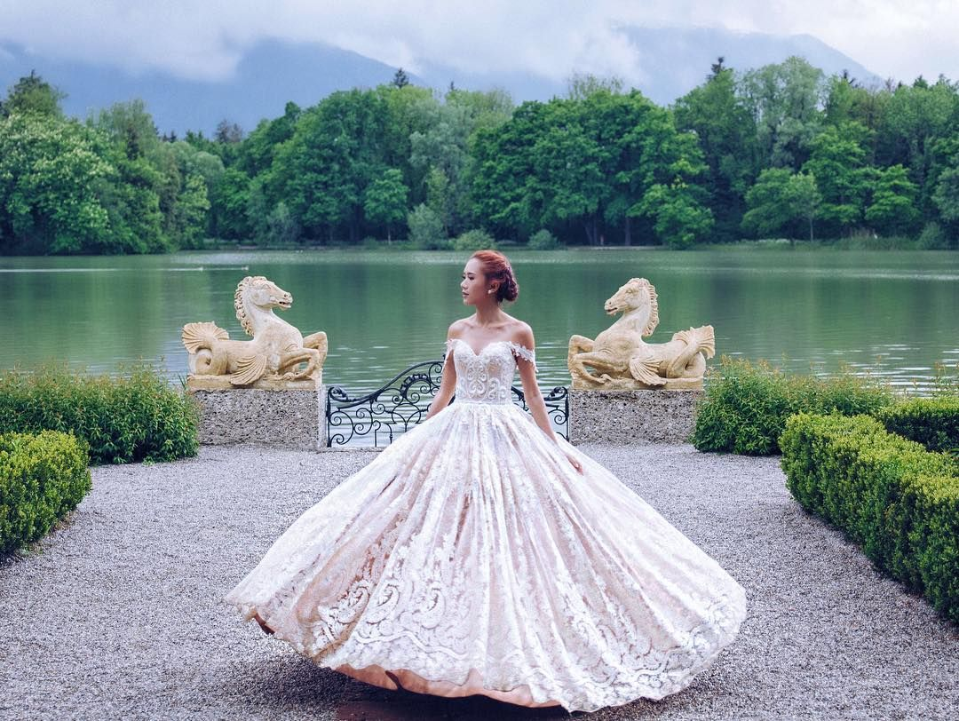 Sound of music wedding dress  Just like the Sound of Music by sunrisegreece dress by