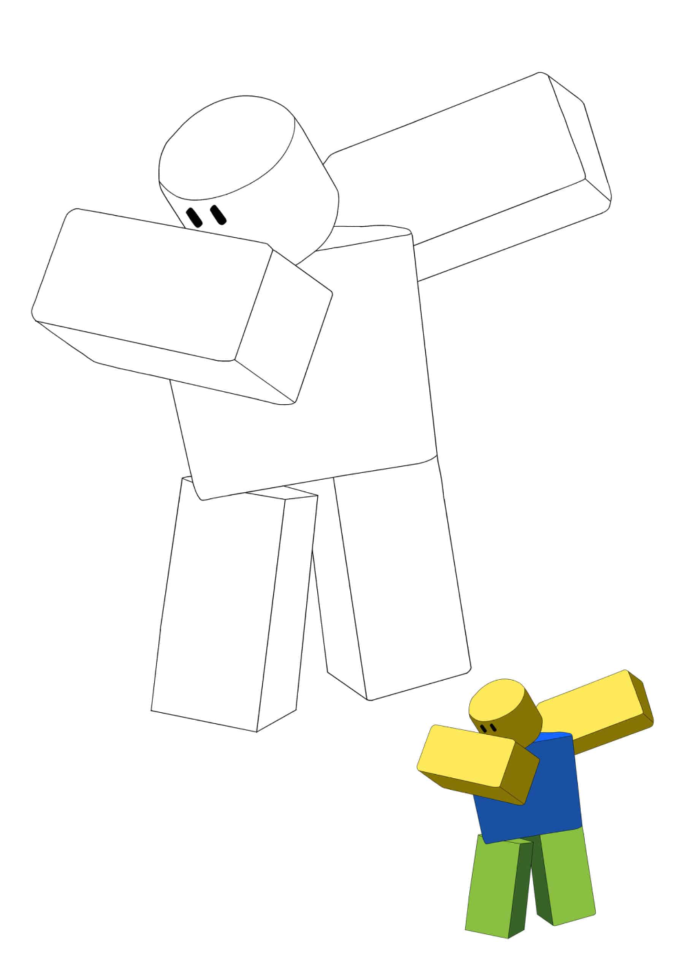 f76d2e0dfd7e59dd0d16f6bfe77bfe63 » Roblox Builderman Coloring Pages