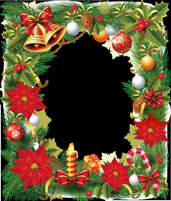 Transparentní vánoční fotorámeček s Poinsettia   Přání,citáty ...