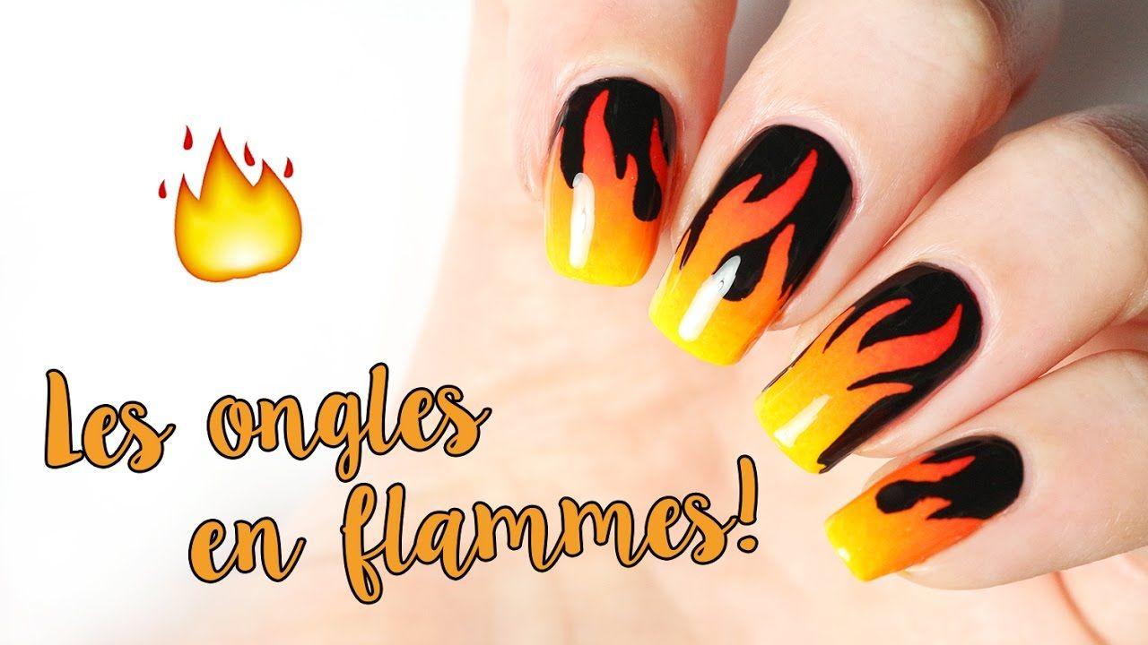 🔥 Les ongles en flammes , fire nail art
