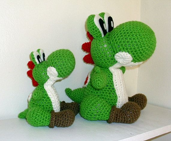 Mini Yoshi Amigurumi : Mini Crochet Yoshi Doll Nintendo Video Game by ...