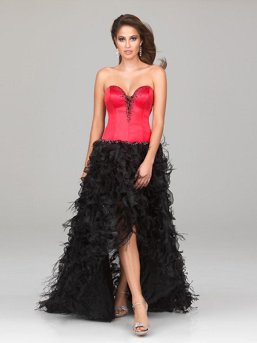 2aba23c744 Black High Low Prom Dresses