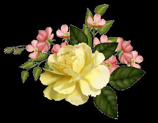 Flores Vintage Rosas Amarillas Png 320 249 Flower Painting Floral Painting Vintage Flowers