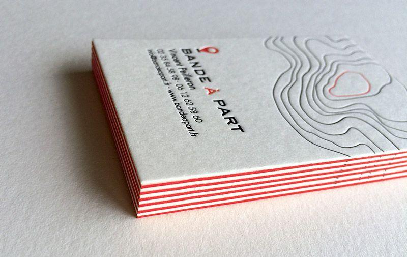 Carte De Visite En Letterpress