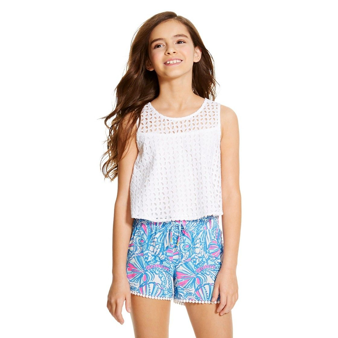 4b96b7df42ce Lilly Pulitzer for Target Girls  Eyelet Tank Top - White