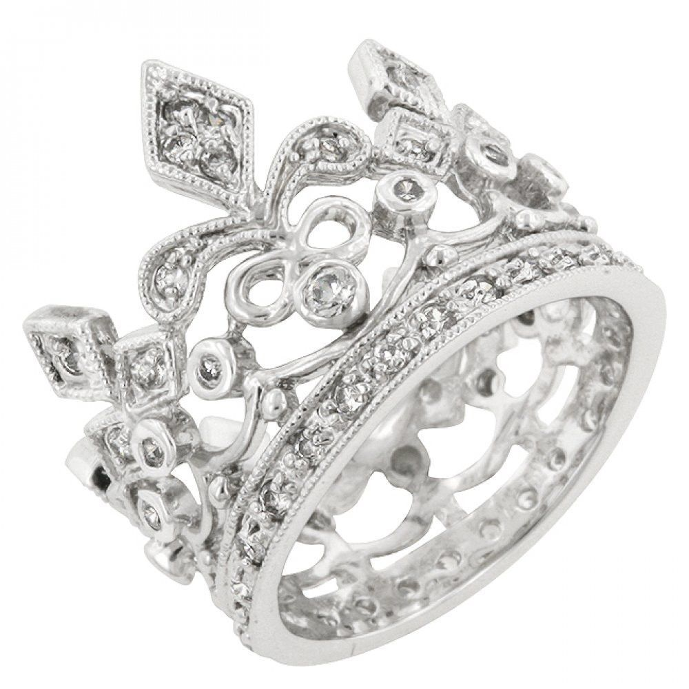 Cubic Zirconia Crown Eternity Ring Eternity rings Crown and Ring
