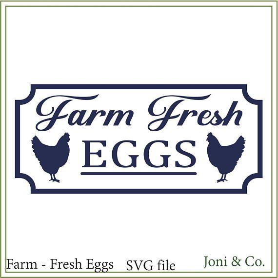 FARM FRESH EGGS Vinyl Decal Sticker Window Wall Bumper Chicken Farmers Market