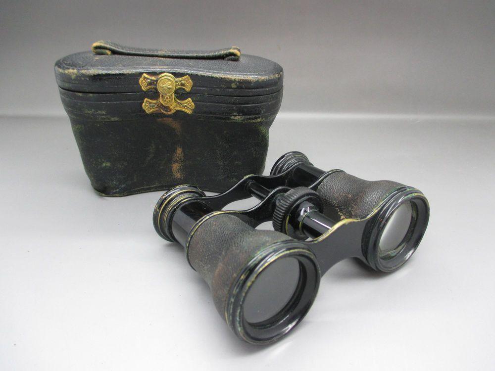 antique lemaire  paris opera glasses    binoculars  u0026 case c 1900