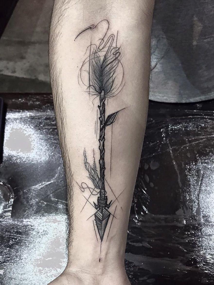 Croquis Tatouage les tatouages façon coup de crayon de frank carrilho - idée tatouage