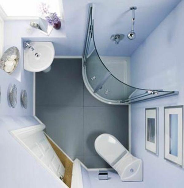 Kleines Bad Planen Eckige Fertigdusche Badgestaltung