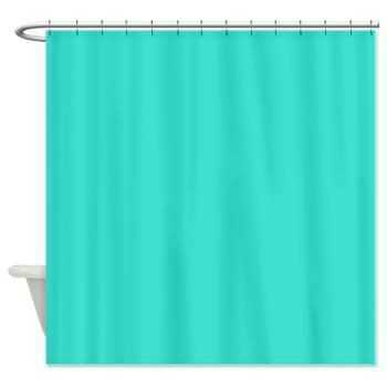 Solid Turquoise Blue Shower Curtain Zazzle Teal Shower Curtains