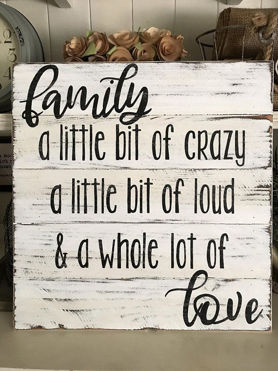 Funny Family Sign / A Little Bit of Crazy A Little Bit of ...