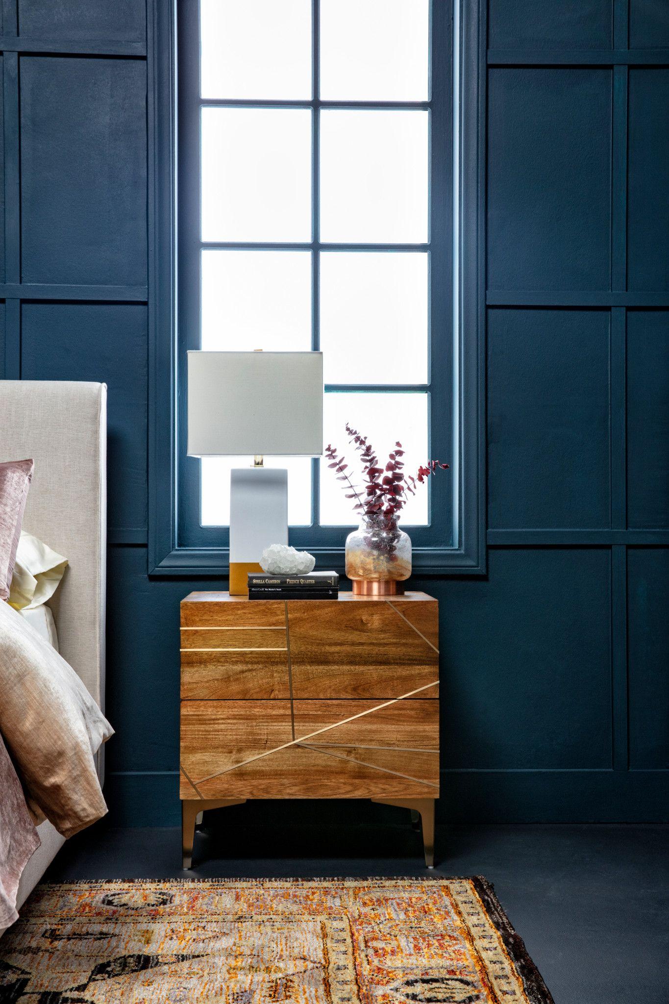 Talbert 2 Drawer 25 Nightstand In 2020 Bedroom Furniture Inspiration Furniture Blue Headboard