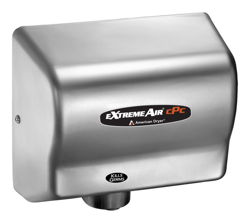American Dryer ExtremeAir CPCC Cold Plasma Clean Hand Dryer - Bathroom hand dryer germs