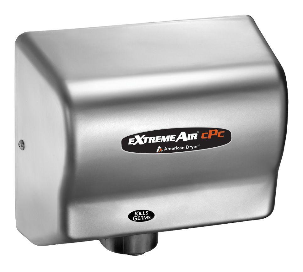 American Dryer ExtremeAir CPCC Cold Plasma Clean Hand Dryer - Bathroom hand dryer germs