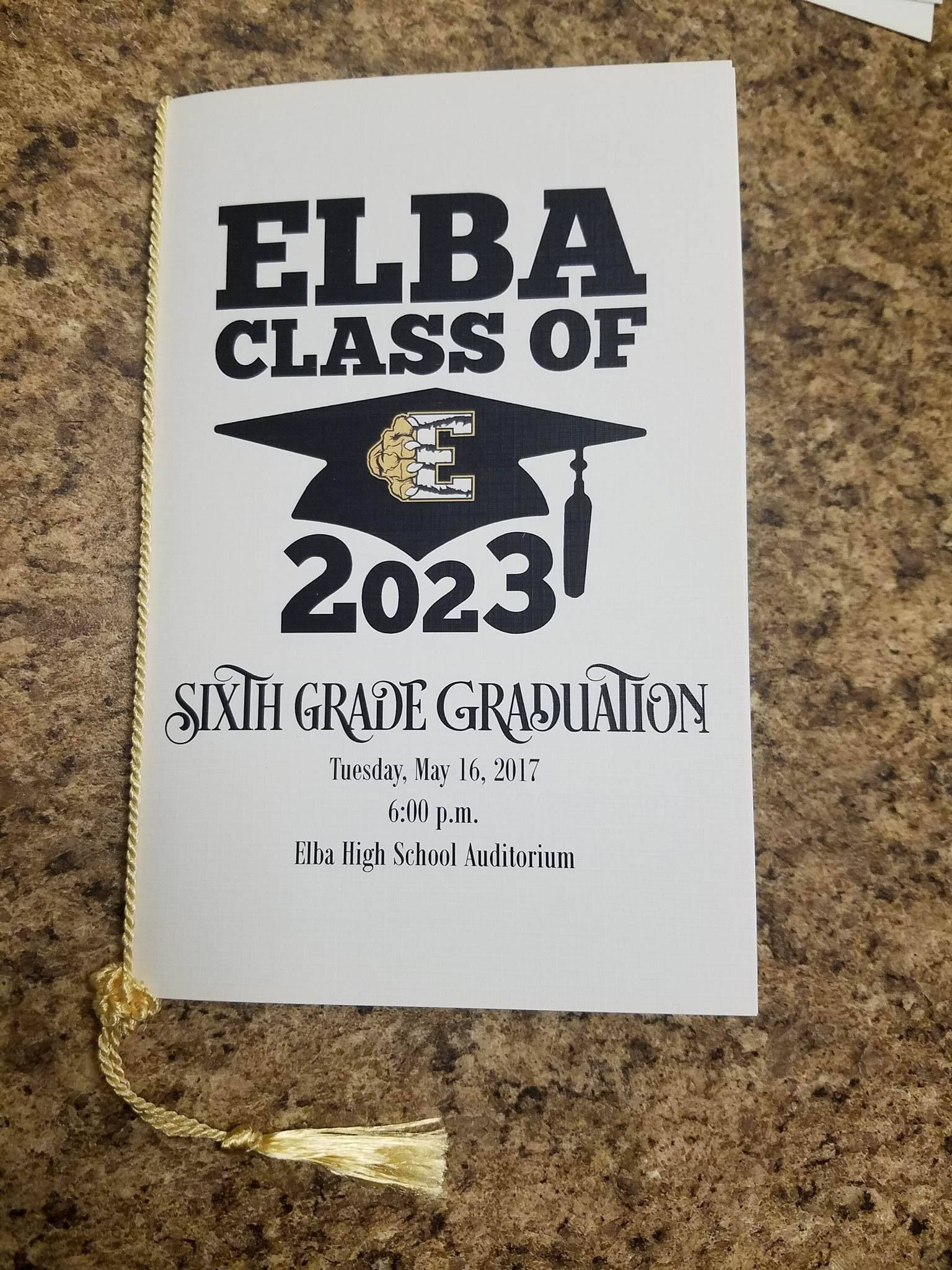 Elba Elementary School Th Grade Graduation Programs By Wiregrass