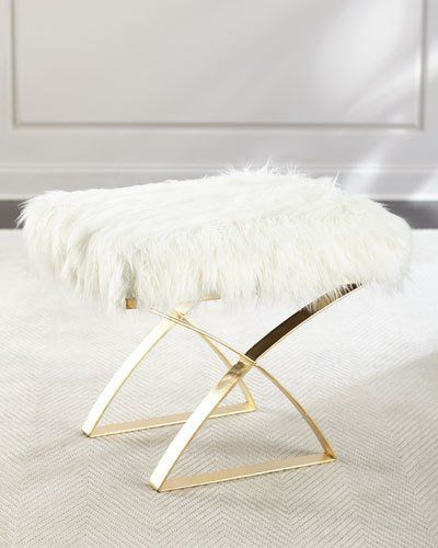 Sissy Gold X Bench | Bench, Living room furniture and Ottomans