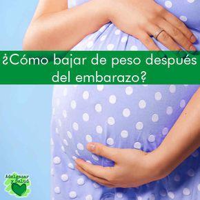 Dietas para bajar de peso despues del embarazo estomago