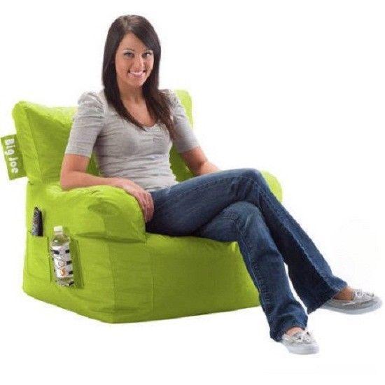 Great Bean Bag Chair Big Joe Dorm Kids Seat Furniture Sofa TV Video Games Room  Lime Pi   Bean Bag Chair, Bean Bags And Video Game Rooms