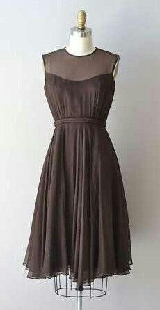 Brown chiffon dress (this would be a seller today!!)