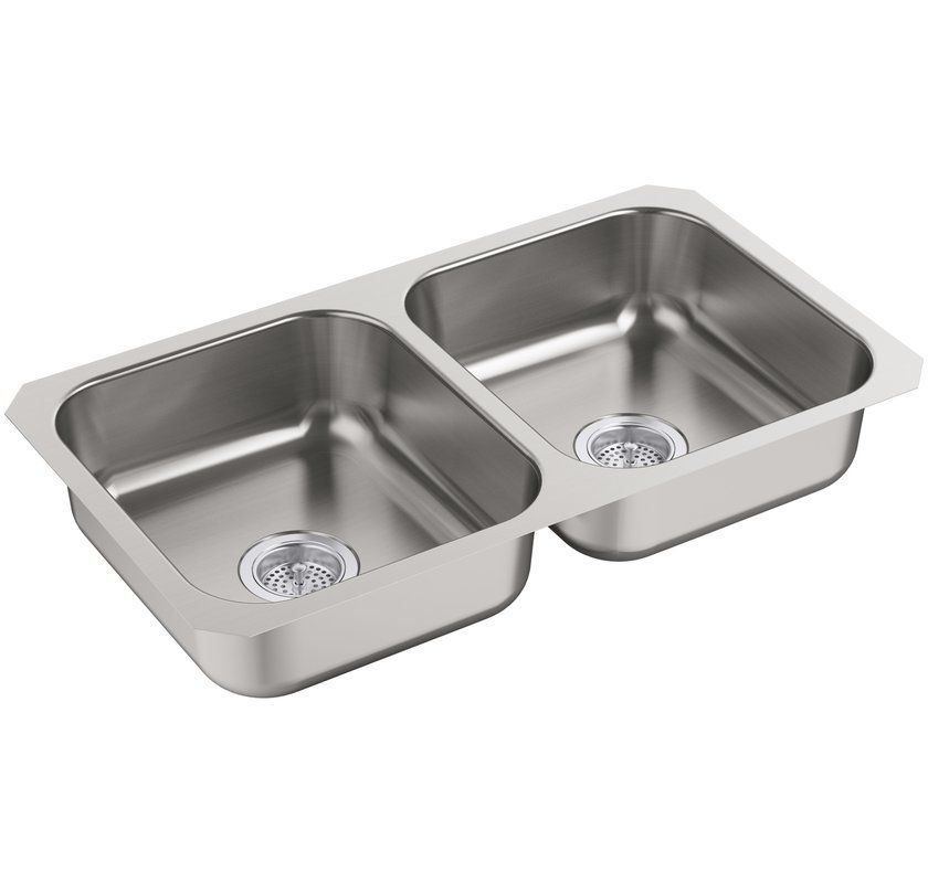 mcallister 32 x 28 undermount double bowl kitchen sink with price     339 99 mcallister 32 x 28 undermount double bowl kitchen sink with price      rh   pinterest com