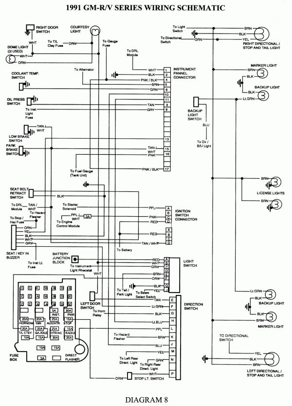 12  91 Chevy Truck Wiring Diagram1991 Chevy Silverado