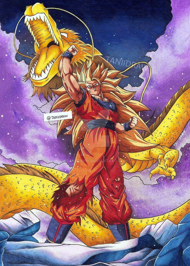 Son Goku Ssj3 LR Dokkan Battle Vr By Taniidraw