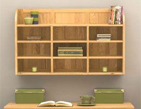 Oak Wall Mounted Unit Wall Mounted Shelving Unit Bookcase Design Shelving