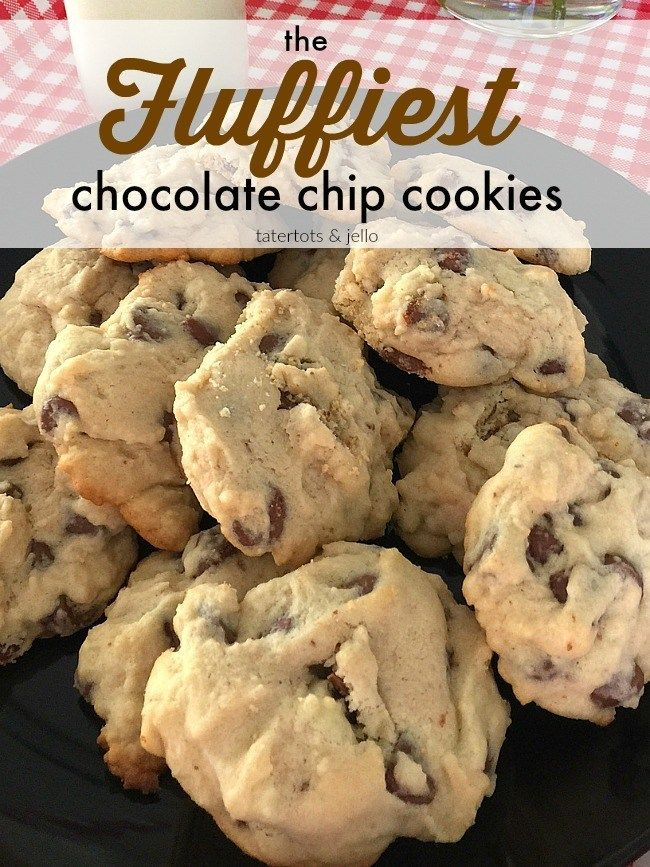 Light and Fluffy Chocolate Chip Cookies. Light and airy they require no brown sugar, with a firm outside and soft and chewy inside.